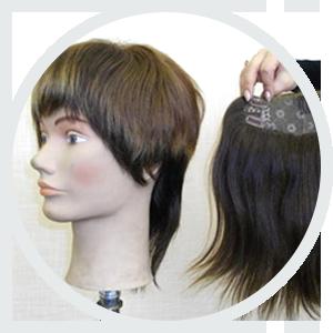 Накладки и парики из натуральных волос